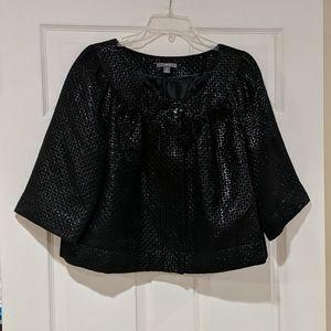 NWOT black with silver threads blazer